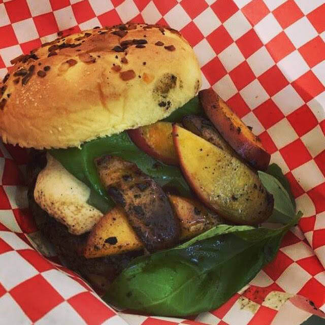 Mobile Food Trailer 4 - Grilled Peach Basil Specialty Burger